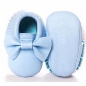 Other - Faux leather baby moccasins